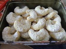 Kekse:   VANILLE - KIPFERL - Rezept