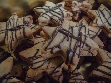 Plätzchen: Nougat-Sterne - Rezept