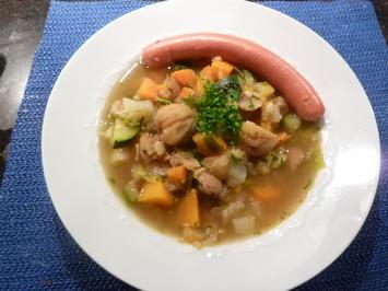Gemüse-Kürbis-Kastanie Suppe - Rezept