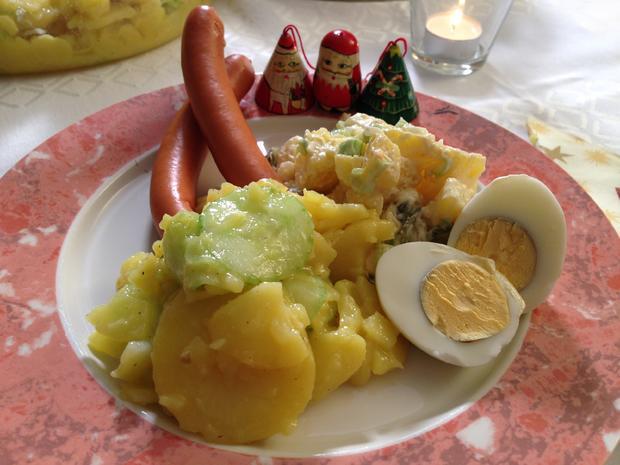 Bayerischer und rheinischer Kartoffelsalat - Rezept