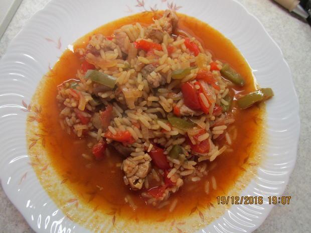 Serbisches Reisfleich - Rezept