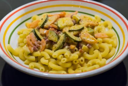 """Pasta à la Manu (oder """"Resteverwertung einer Sauce Hollandaise"""") - Rezept"""