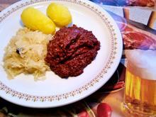 Sauerkraut mit veredelter Blutwurst - Rezept