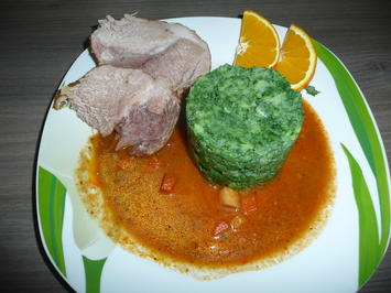 Schweinebraten an Grünkohl - Kartoffelstampf. - Rezept