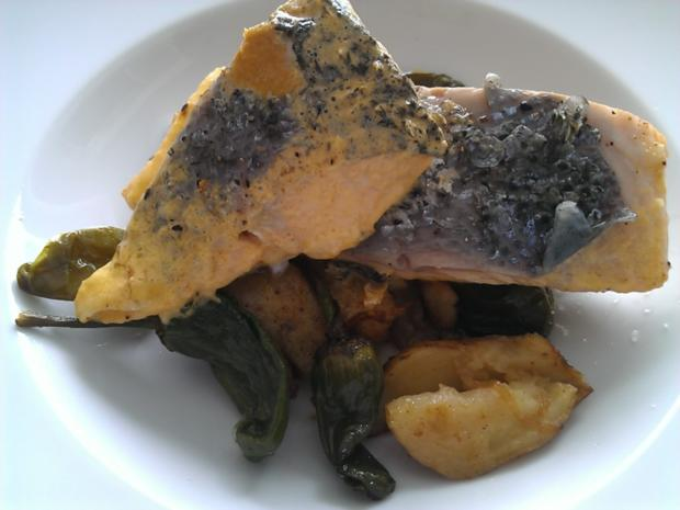 """Fisch / Lachs = ein """"Ganzer"""" Lachs mit Zitronenbuttersosse  à la Biggi - Rezept - Bild Nr. 12"""