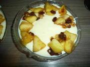 Vanillepudding mit geh. Mandeln & Bratapfel. - Rezept