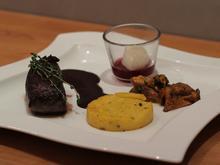 Hirsch | Pfifferlinge | Maisgrieß | Schokolade - Rezept