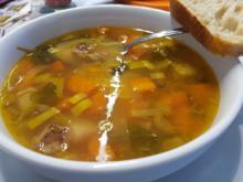 Rindfleischsuppe gegen Erkältung (auf Vorrat gekocht) - Rezept