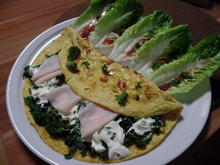 Spinat-Omelett mit Salat - Rezept - Bild Nr. 1483
