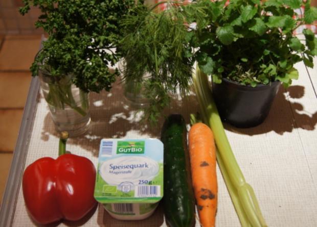 Gemüsesticks mit Kräuter-Quark-Dip - Rezept - Bild Nr. 2