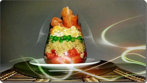 Schichtsalat ➯ im Glas ➯ auch für die Mittagspause im Büro - Rezept - Bild Nr. 1519