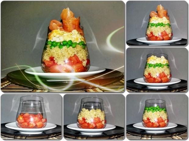 Schichtsalat ➯ im Glas ➯ auch für die Mittagspause im Büro - Rezept - Bild Nr. 1532