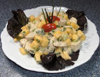 Rezept: Hähnchensalat mit Mango