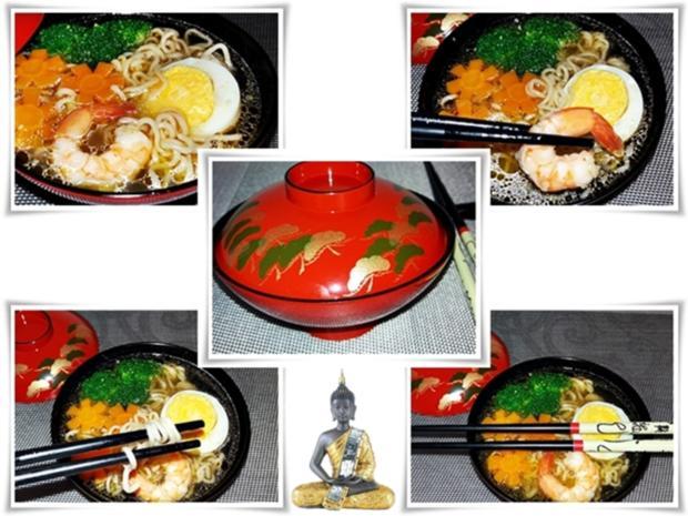 Asiatische ➯  Nudelsuppe mit  Garnelen - Rezept - Bild Nr. 1582