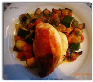 Rezept: Hähnchenbrust mit Pisto Manchego
