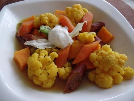 Süßkartoffel-Blumenkohl-Eintopf - Rezept - Bild Nr. 1637