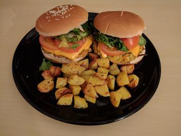 Vegetarischer Burger mit Ofenkartoffeln - Rezept - Bild Nr. 1699