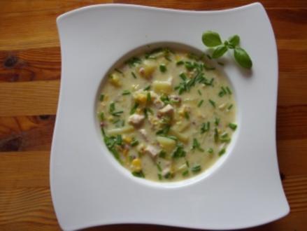 Hühner-Mais-Suppe Corn Chowder - Rezept