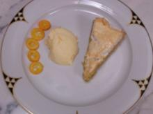 Mandeltorte mit Baiserhaube an Orangencreme mit Kumquats - Rezept