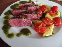 Steak mit Pesto und Gemüse - Rezept - Bild Nr. 1706