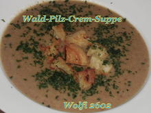 Pilz-Creme-Suppe mit Butter-Knoblauch-Brösel - Rezept - Bild Nr. 1698