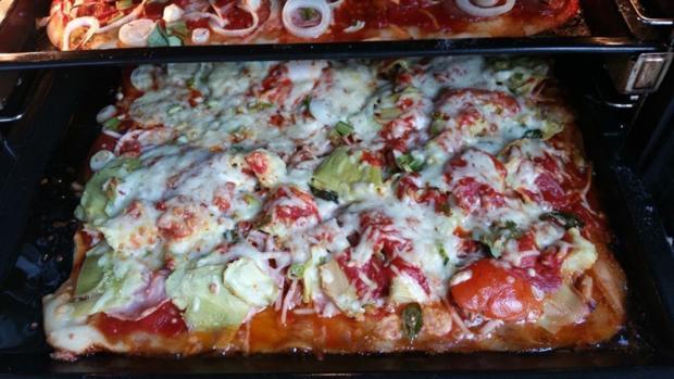 Pizza mit Avocado und Champignons - Rezept - Bild Nr. 1706