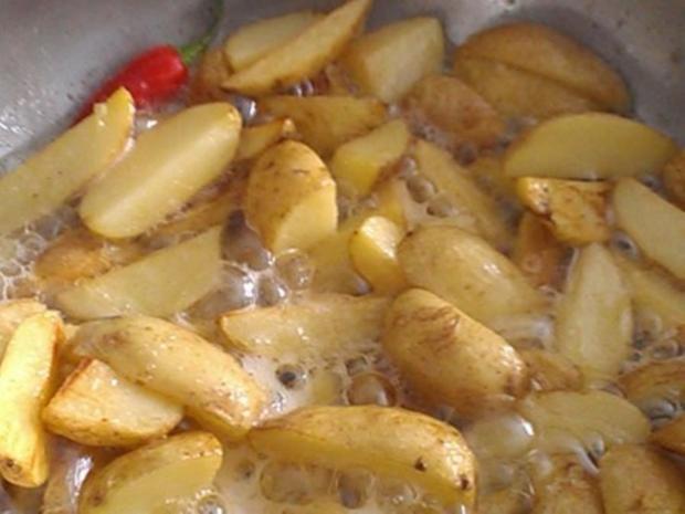 """Kartoffelspalten *Wedges"""" aromatisiert - Rezept - Bild Nr. 1704"""