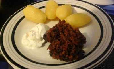 Chilli con Carne mit Pellkartoffeln - Rezept - Bild Nr. 2