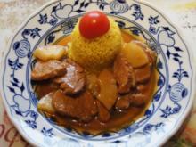 Schweinefilet-Ananas-Wok mit Curry-Basmatireis - Rezept - Bild Nr. 1729
