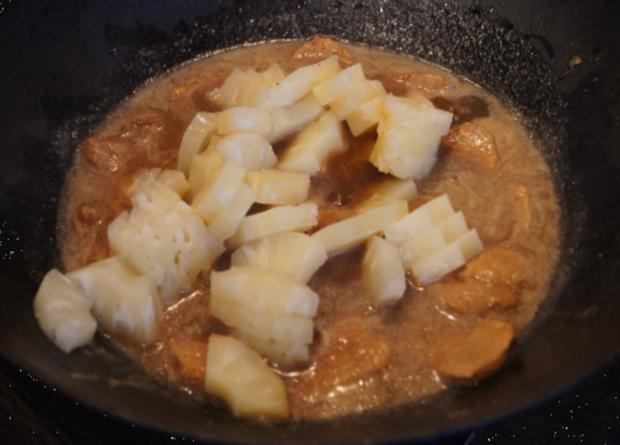 Schweinefilet-Ananas-Wok mit Curry-Basmatireis - Rezept - Bild Nr. 1735