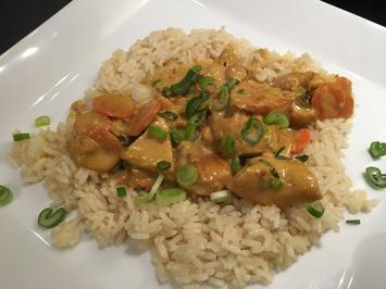 Rezept: Karibisches Poulet an Curryrahm