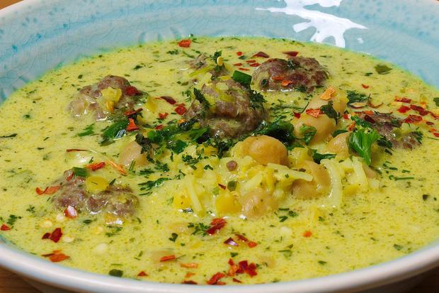 Joghurtsuppe mit Hülsenfrüchten - Persische Art - Rezept - Bild Nr. 1811