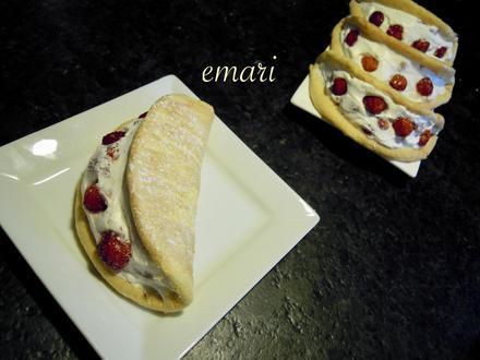 Biskuit Omelett mit Sahne - Walderdbeer - Fülle - Rezept - Bild Nr. 1820