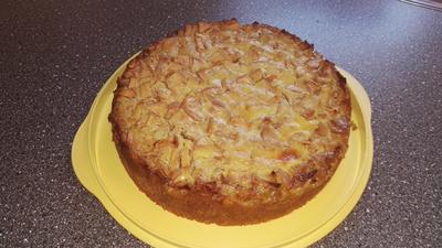 Veganer Nussiger Apfelkuchen mit Quarkguss - Rezept - Bild Nr. 2