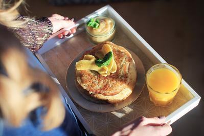 Einfache und schnelle vegane Pancakes - Rezept - Bild Nr. 1908