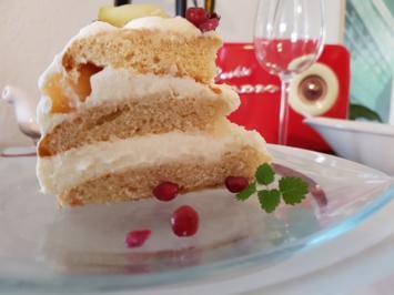 Oma Löffel`s Torten = Eierkuchentorte ist ein Blitz Stapelkuchen mit Obst - Rezept - Bild Nr. 1913