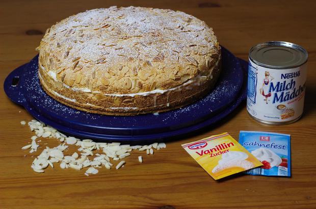 Saftige Milchmadchen Sahne Torte