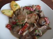 Schweinefilet-Pilz-Ragout mit Ofenkartoffeln - Rezept - Bild Nr. 1960