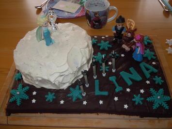 Rezept: Eiskönigin Elsa Frozen Torte