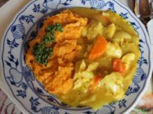Hähnchenbrustfiletcurry mit Gemüse und Süßkartoffelstampf - Rezept - Bild Nr. 2017