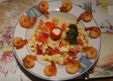 Gemischter Salat mit Party Crevetten - Rezept - Bild Nr. 2032