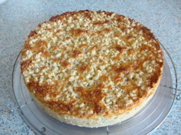 Apfelkuchen mit Rahmguss auf Streuselteig - Rezept - Bild Nr. 2066