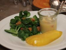 Feldsalat mit Kartoffeldressing und Holunder-Birne - Rezept - Bild Nr. 2059