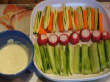 Gemüsesticks mit Dip - Rezept - Bild Nr. 2