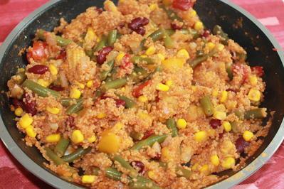 Couscous-Gemüse-Pfanne (vegan) - Rezept - Bild Nr. 2