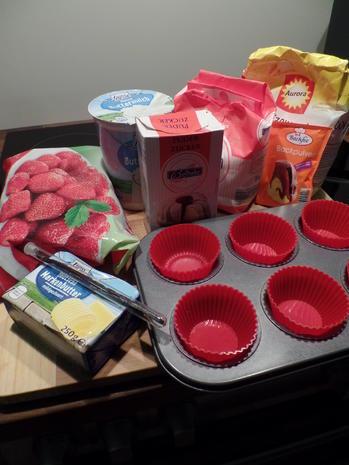 Mini-Muffins mit Erdbeersoße - Rezept - Bild Nr. 2085