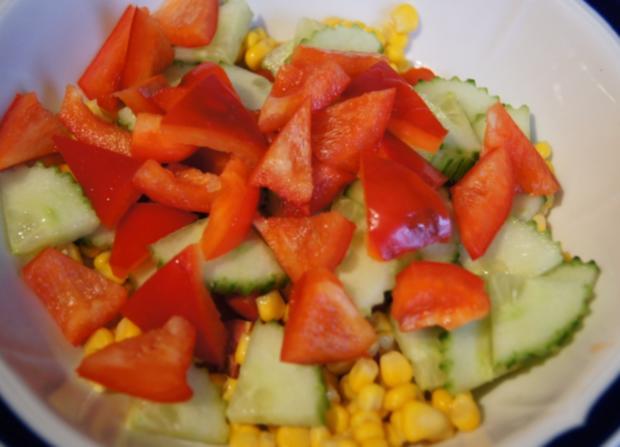 Gemischter Salat mit Soja-Essig-Dressing und Party Garnelen - Rezept - Bild Nr. 2102