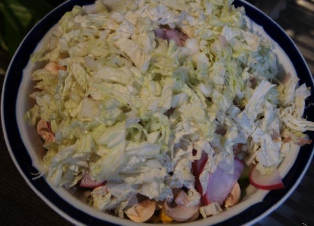 Gemischter Salat mit Soja-Essig-Dressing und Party Garnelen - Rezept - Bild Nr. 2104