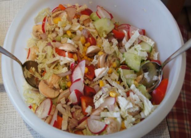 Gemischter Salat mit Soja-Essig-Dressing und Party Garnelen - Rezept - Bild Nr. 2105