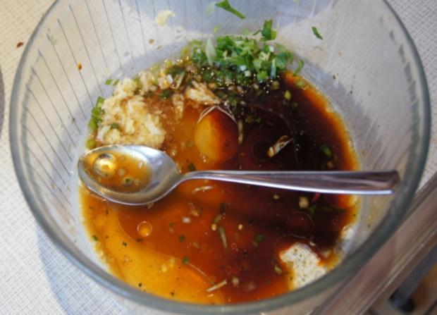 Gemischter Salat mit Soja-Essig-Dressing und Party Garnelen - Rezept - Bild Nr. 2108